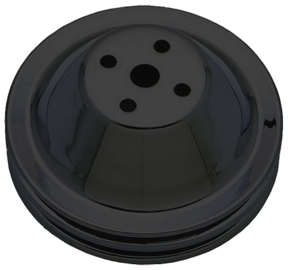 Trans-dapt SBC SWP Water Pump Pulley 2 Groove Black