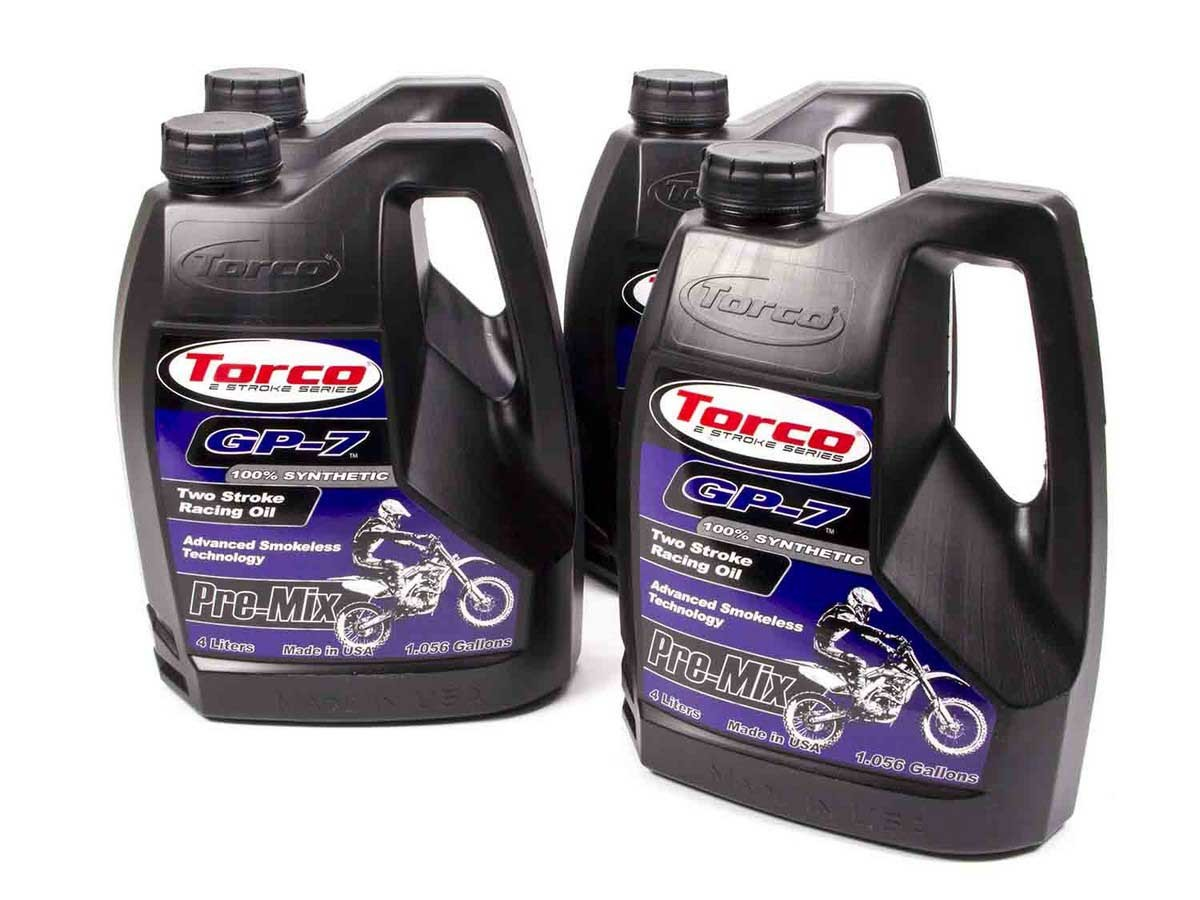 Torco GP-7 Racing 2 Cycle Oil Case 4x1 Gallon