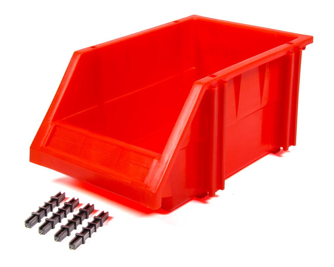Triple X Race Components Plastic Storage Bin Red 9-1/2 x 6-1/4 x 4-1/2