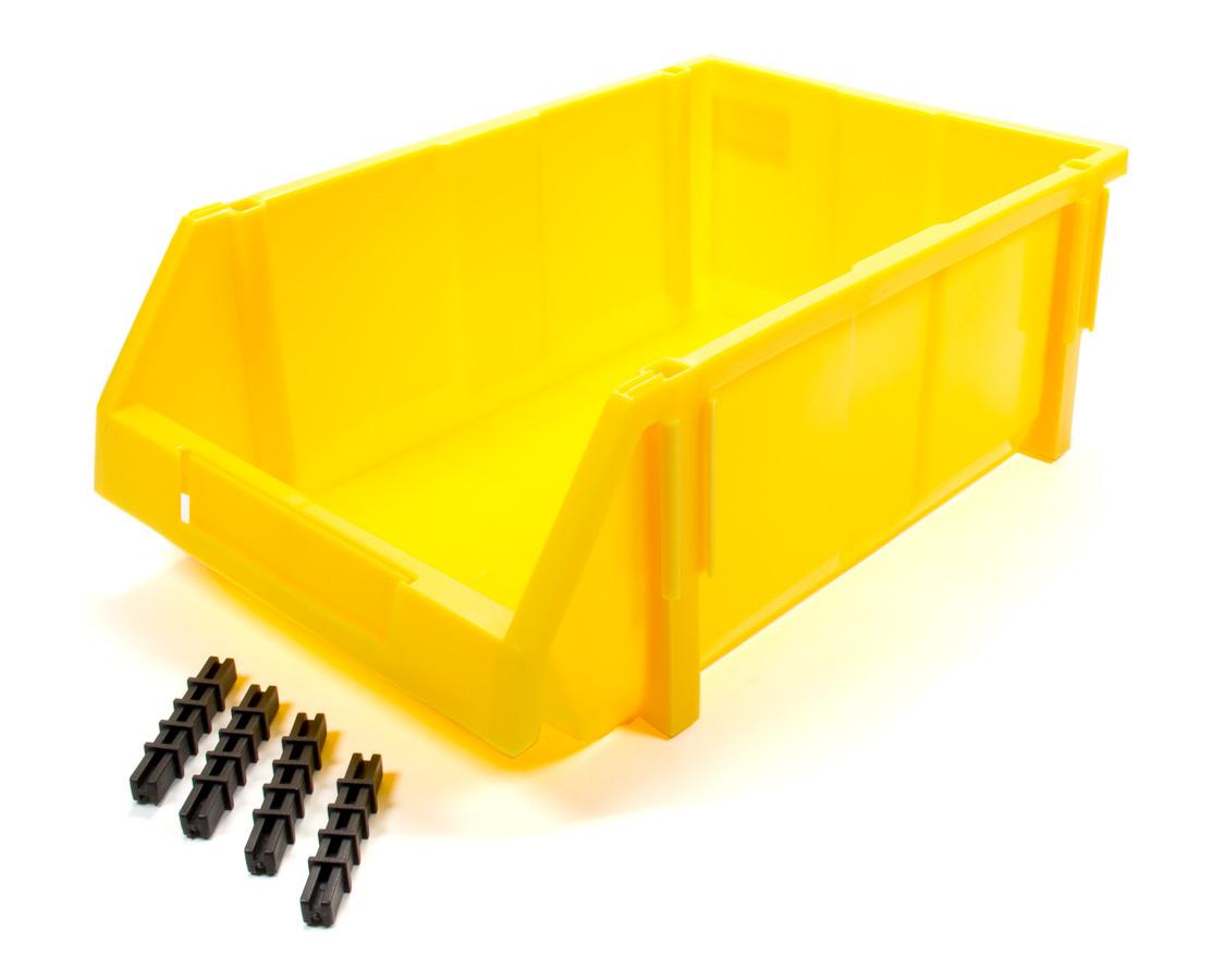 Triple X Race Components Plastic Storage Bin YEL 17-3/4 x 11-1/2 x 6-3/4