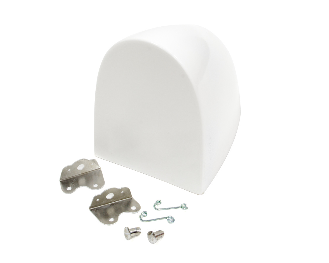 Triple X Race Components Aero Fuel Tank Cover White With Brackets