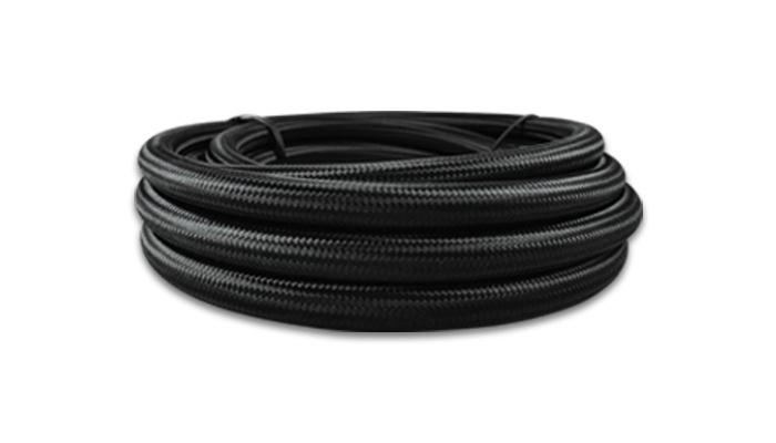 Vibrant Performance 5ft Roll -6 Black Nylon Braided Flex Hose