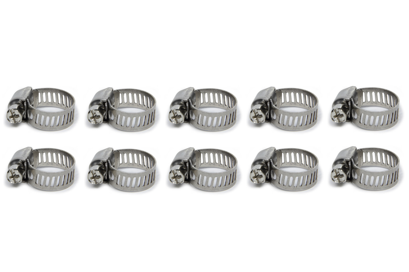 Vibrant Performance S.S. Worm Gear Clamps .44in to .90in 10 Pack