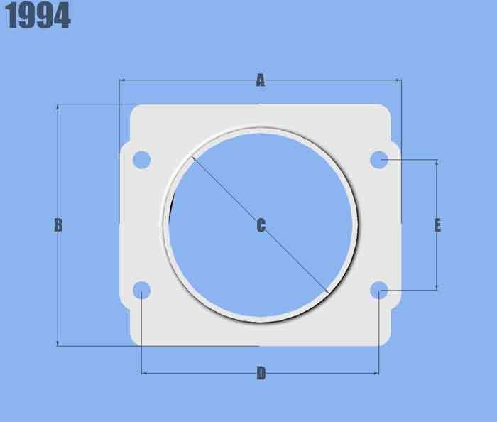 Vibrant Performance Mass Air Flow Sensor Ada pter Plate for Subaru