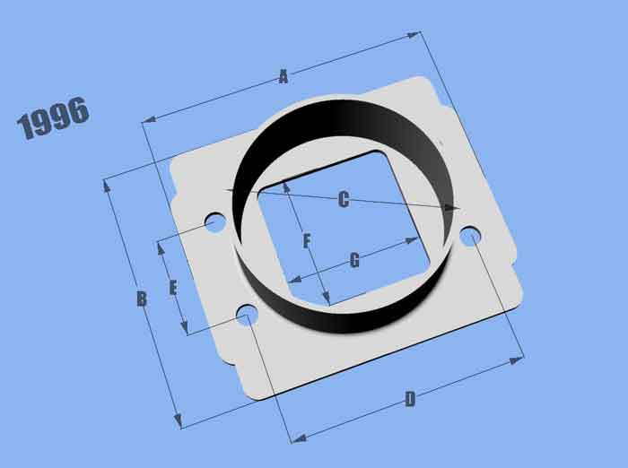 Vibrant Performance Mass Air Flow Sensor Ada pter Plate for Toyota