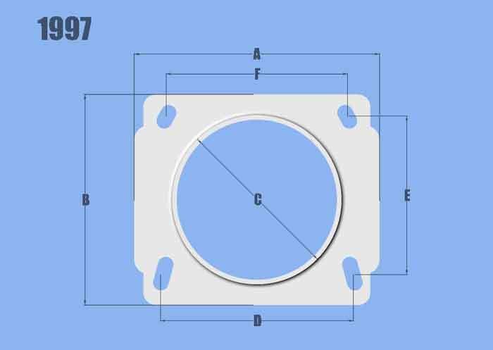 Vibrant Performance Mass Air Flow Sensor Ada pter Plate for Nissan