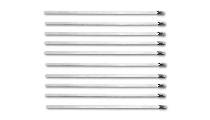 Vibrant Performance Stainless Steel Cable Ti es 7.5in Long 10 Pack