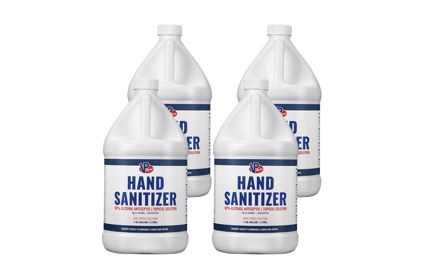 Vp Fuel Containers Hand Sanitizer 80% Alcohol Gal (Case 4)