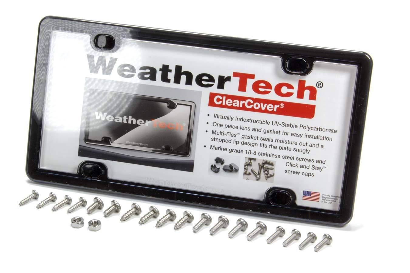 Weathertech Clear Cover License Plate Black