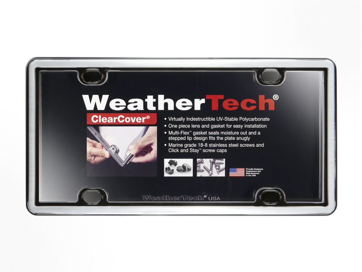 Weathertech Clear Cover License Plate Chrome
