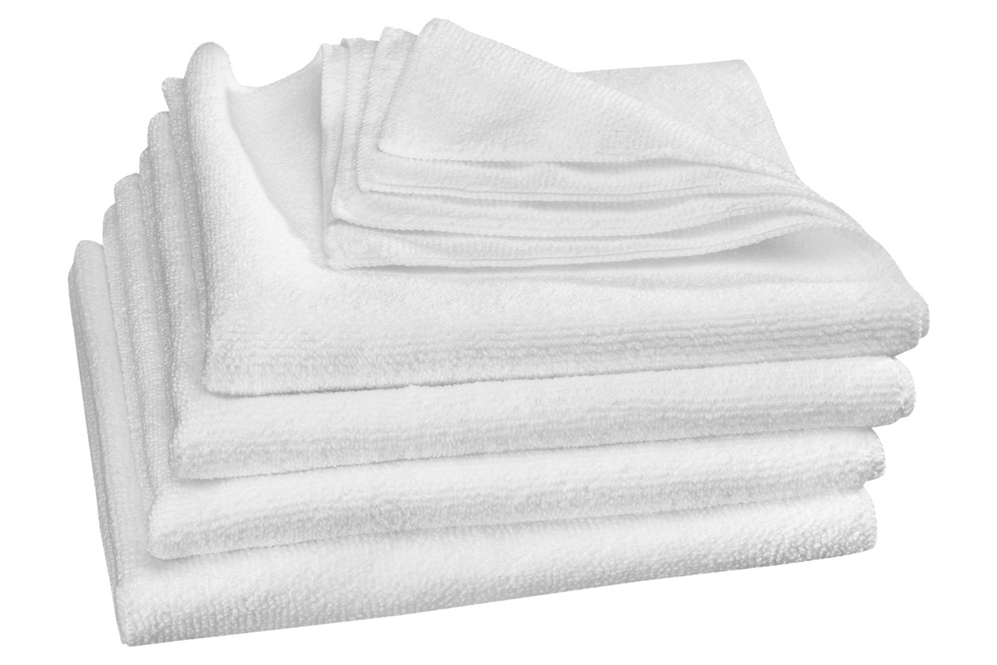 Weathertech TechCare White Microfibe r Cleaning Cloths 4 Pack