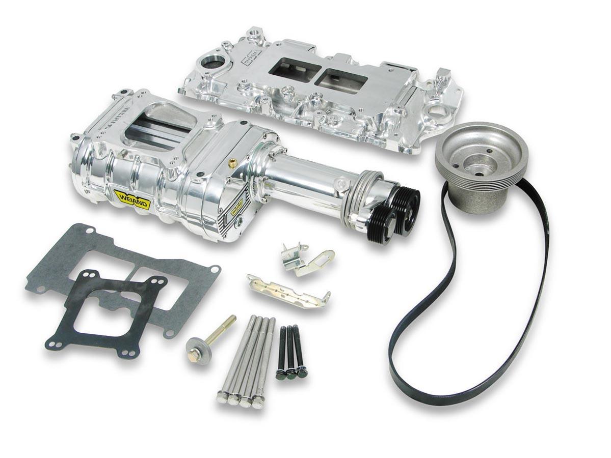 Weiand SBC 142 Supercharger Kit - Polished