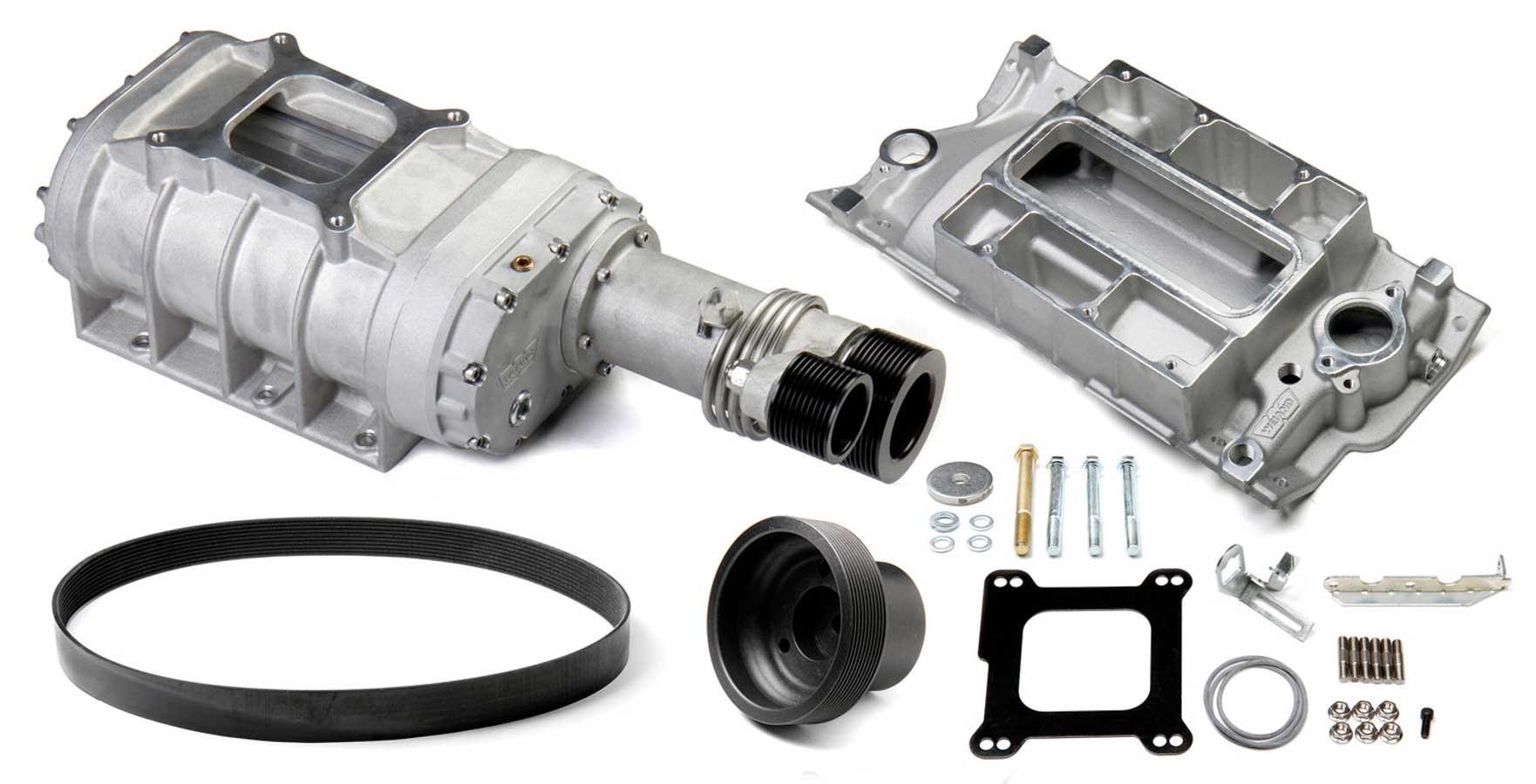 Weiand SBC 177 Supercharger Kit - Satin