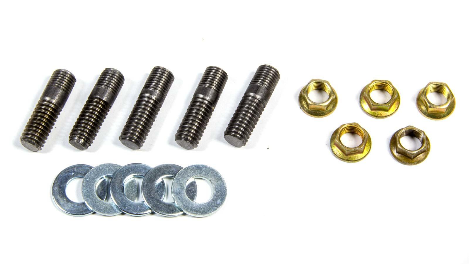 Weld Racing 3/8-24 Rotor Stud Kit w/Nuts & Washers (5pk)