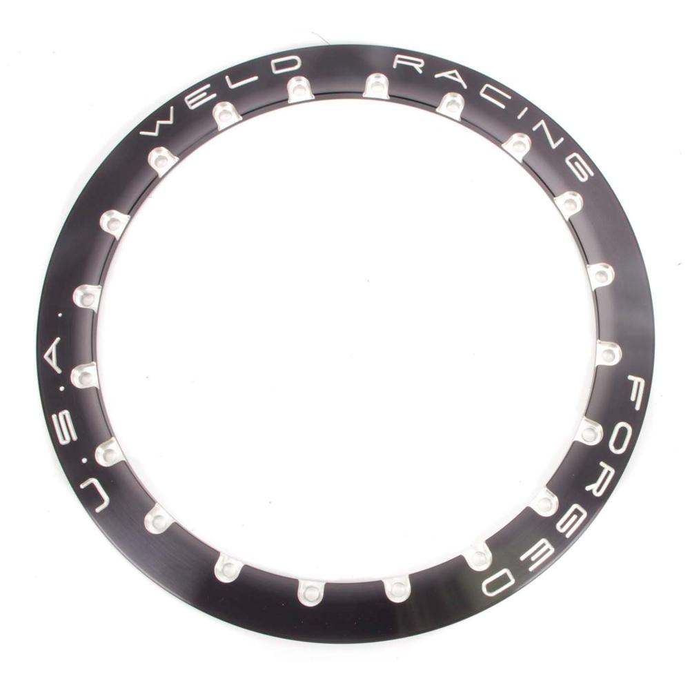 Weld Racing Beadloc Ring - Black 20-Hole For 15in Wheel