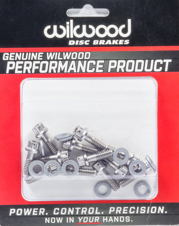 Wilwood Rotor Bolt Kit Stainless Hat/Rotor Set of 12