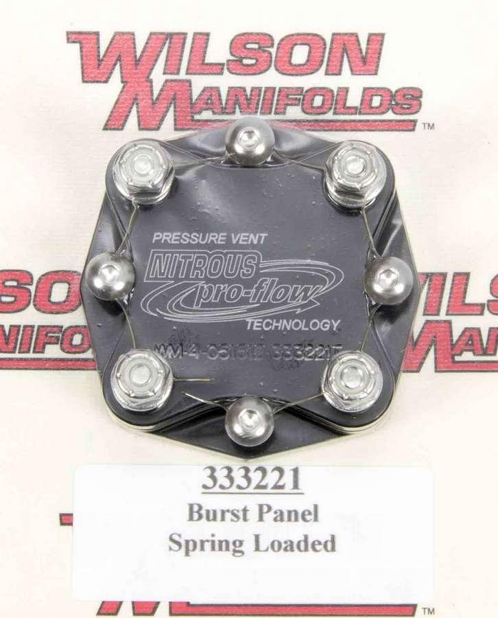 Wilson Manifolds Manifold Pressure Relief Valve