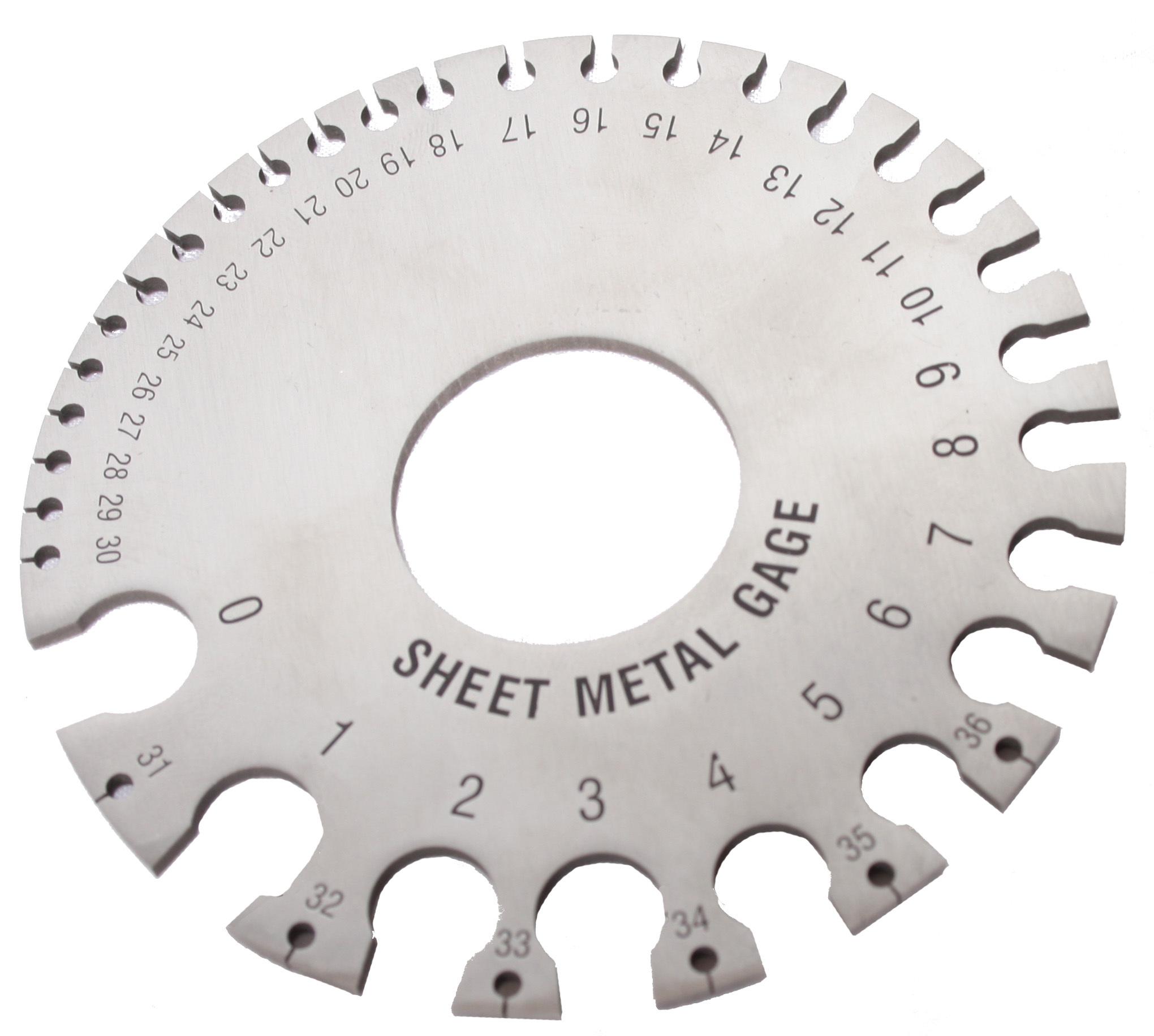 Woodward Fab Sheet Metal Thickness Ga uge