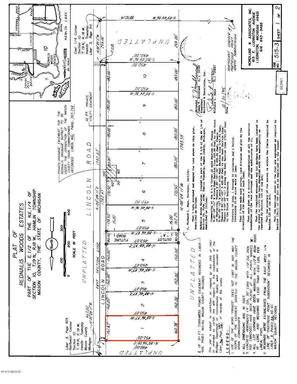 N Lincoln Lot #1 Rd Ludington MI 49431