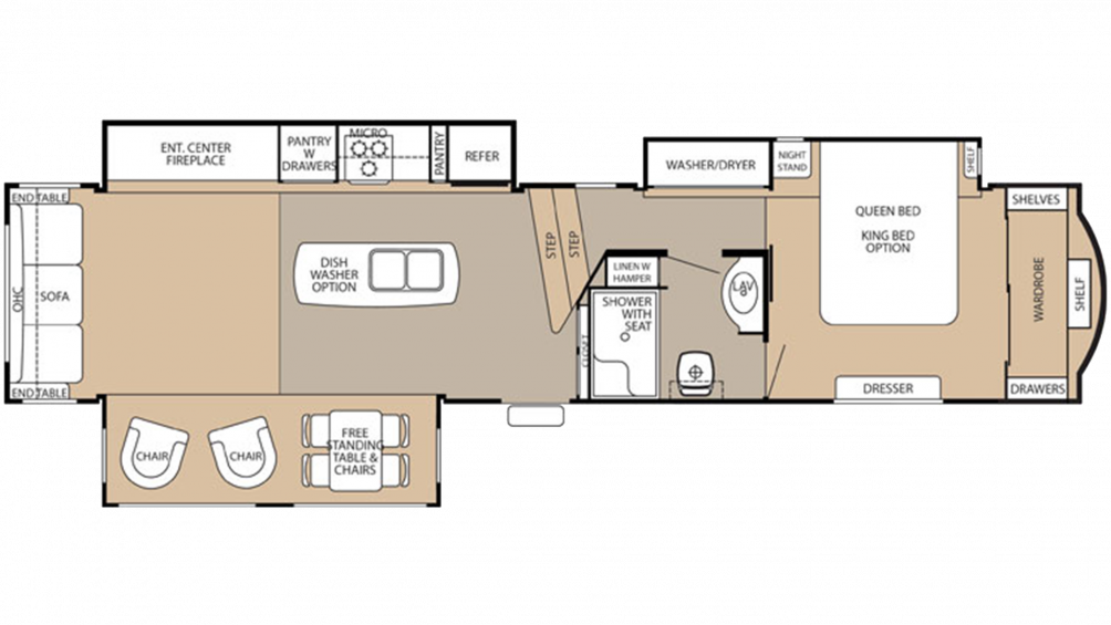 Cedar Creek 38CK Floor Plan - 2015