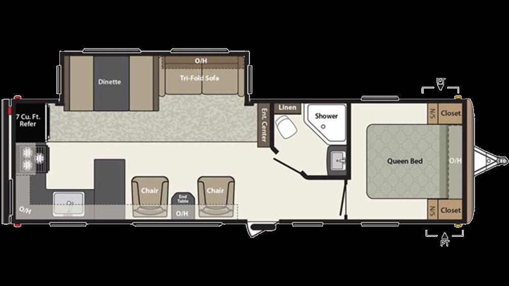 Springdale 293RK Floor Plan - 2016