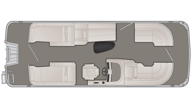 Bennington G Series 22GCW Floor Plan - 2020