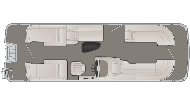 Bennington G Series 25GCW Floor Plan - 2020