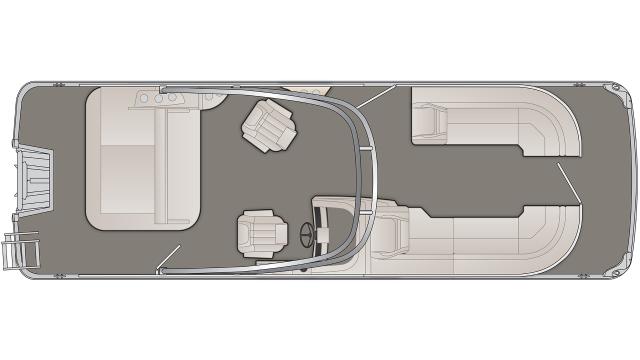 Bennington G Series 25GSBA Floor Plan - 2020