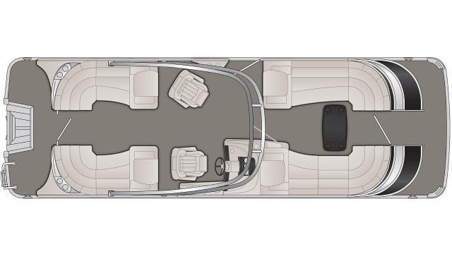Bennington Q Series 25QFBA Floor Plan - 2020
