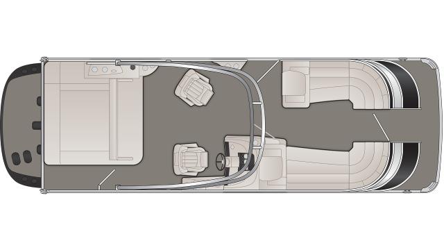 Bennington Q Series 25QSBAIO Floor Plan - 2020