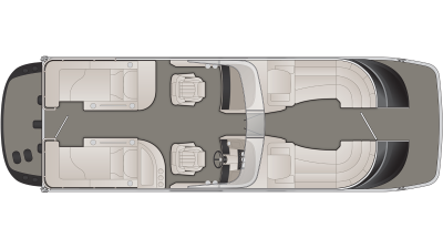 Bennington QX Series 25QXCWWIO Floor Plan - 2020