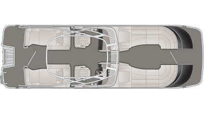 Bennington QX Series 25QXCWWT Floor Plan - 2020