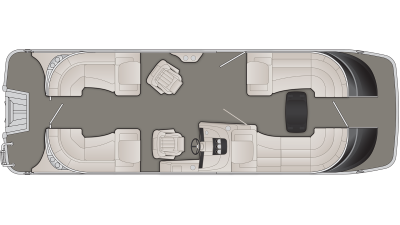 Bennington QX Series 25QXFB Floor Plan - 2020