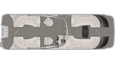 Bennington QX Series 25QXFBA Floor Plan - 2020