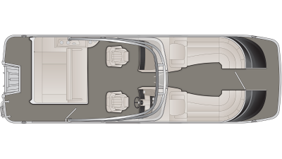 Bennington QX Series 25QXSBWA Floor Plan - 2020