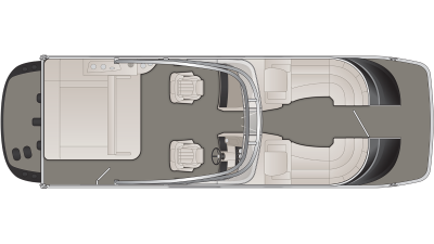 Bennington QX Series 25QXSBWAIO Floor Plan - 2020