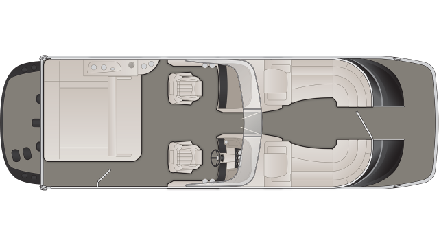 Bennington QX Series 25QXSBWIO Floor Plan - 2020