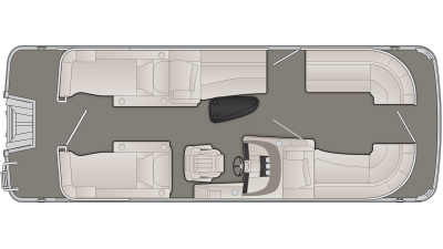 Bennington R Series 22RCW Floor Plan - 2020