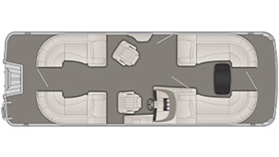 Bennington R Series 23 RSR Floor Plan - 2018