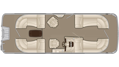 Bennington R Series 2350 RSR Floor Plan - 2015