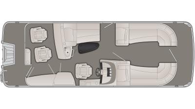 Bennington R Series 23RBR Floor Plan - 2020