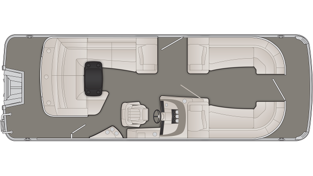 R Series 23RCL Floor Plan - 2020