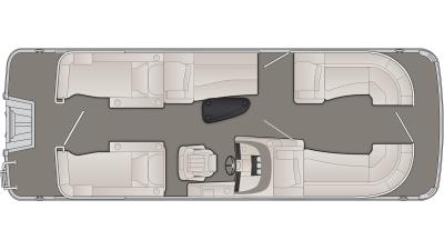 Bennington R Series 23RCW Floor Plan - 2020