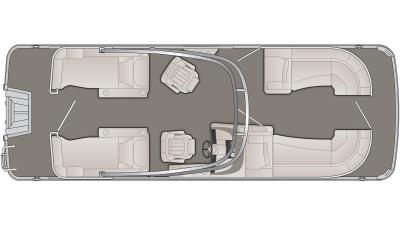 Bennington R Series 23RCWA Floor Plan - 2020