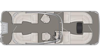 Bennington R Series 23RFBA Floor Plan - 2020