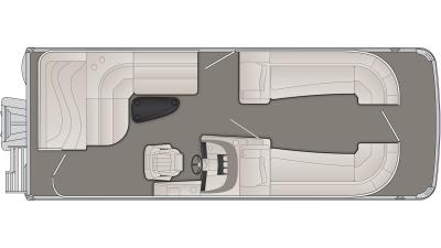 Bennington R Series 23RL Floor Plan - 2020