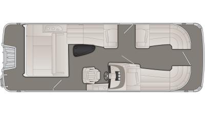 Bennington R Series 23RSB Floor Plan - 2021