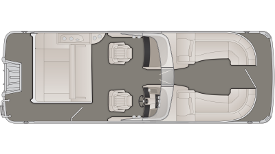Bennington R Series 23RSBW Floor Plan - 2020