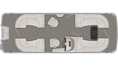Bennington R Series 23RSR Floor Plan - 2020