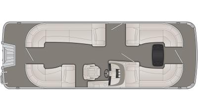 Bennington R Series 23RSRC Floor Plan - 2020
